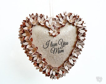 Lovely heart hanging decoration, nice, heartwarming, Mother's Day