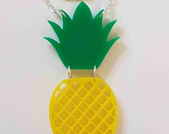 Pineapple Necklace - Acrylic