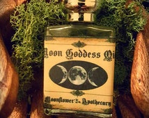 Moon Goddess ~ 1/2oz Esbat Moon Phases Full Moon, Moonstone, Lemon, Moonflower, Amyris, Frankincense, Juniper, Goddess, Magick, Pagan, Witch