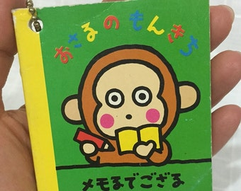 Vintage small notebook Sanrio Monkichi Monkey small notebook 1993 Made in Japan