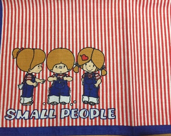 Vintage Child's Handkerchief 1976 Sanrio Small People Made in Japan