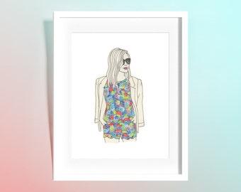 Custom Watercolor Fashion Portrait/Illustration