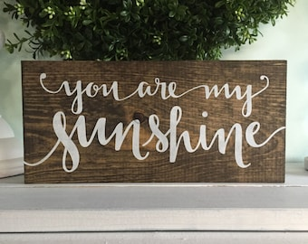 You are my sunshine, You are my sunshine sign, wood sign, wooden sign, nursery sign, rustic sign, wall hanging, arrow sign, custom sign