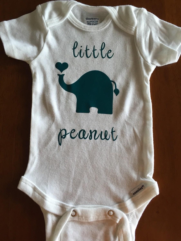 ec1713327ab4 Baby onesie-elephant onesie-little peanut by BearCountryCraftz