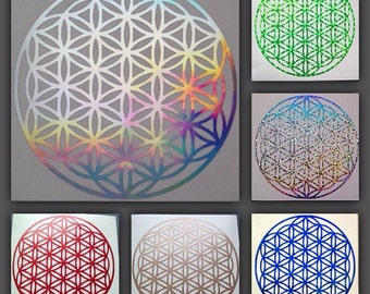 Flower of Life Sacred Geometry Decal - Speciality Vinyls