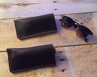Leather sunglasses/eyeglasses case/sleeve