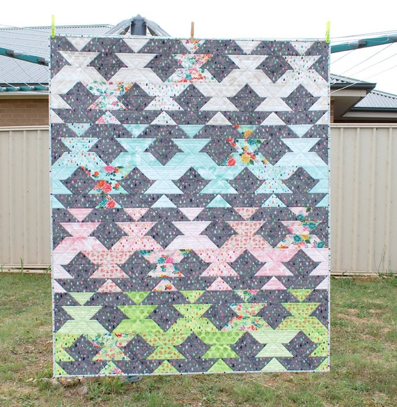 New Leaf PDF Lap Quilt and Mini Quilt Pattern. Beginner