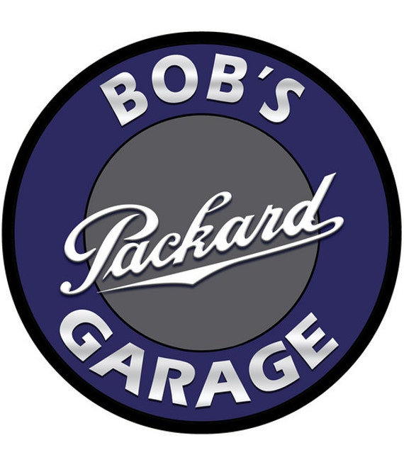 Personalized Garage Signs For Automotive : Personalized packard garage metal sign custom vintage style