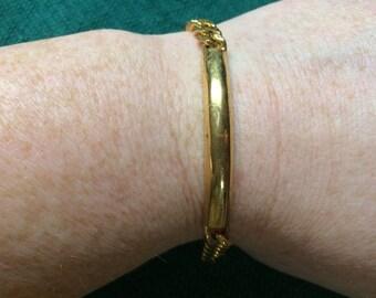 Vintage Goldtone Chain Bracelet, 7'' Long