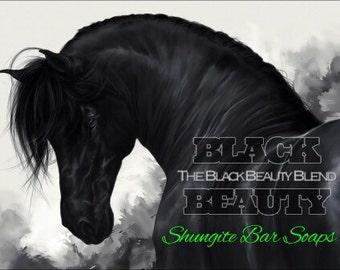Shungite Bar Soap (Mongongo & BlackBerry Oil)  Shungite Dermal-Regeneration Blend. Skin Repair Formula. The BLACK BEAUTY Blend.