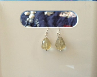 Gemstone earrings, purchase as is or made to order.