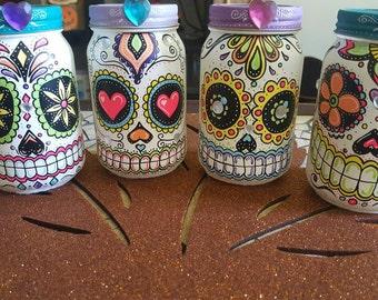 Sugar Skull Mason Jars