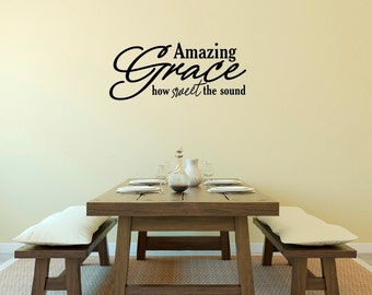 Amazing Grace How Sweet the Sound Vinyl Wall Decal Sticker
