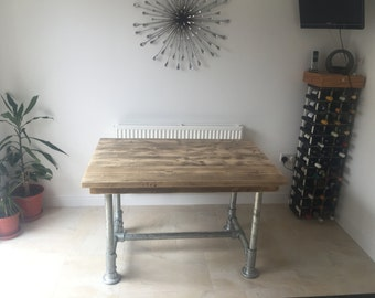 Reclaimed Scaffold board dining table Plank Top Dining Table 4x3