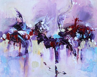 Abstract art Abstract painting Original art Modern artwork Contemporary art Abstract wall art Home decor Wall hanging Violet painting Pastel