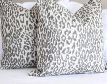 lacefield cheetah flax pillow cover // lacefield fabrics // leopard print // cheetah print // neutral pillow cover