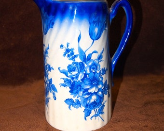 English Ceramic Pitcher with Royal mark