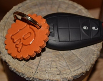 Leather Initial Key Chain