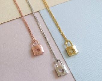 Padlock Heart Necklace