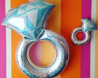 """38"""" Engagement Ring Balloon, Jumbo Balloon, Love Balloon, Wedding Ring, Ring Balloon, Wedding Decor, Engagement Party"""