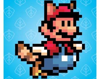 Nintendo Super Mario Brothers Raccoon Mario Poster