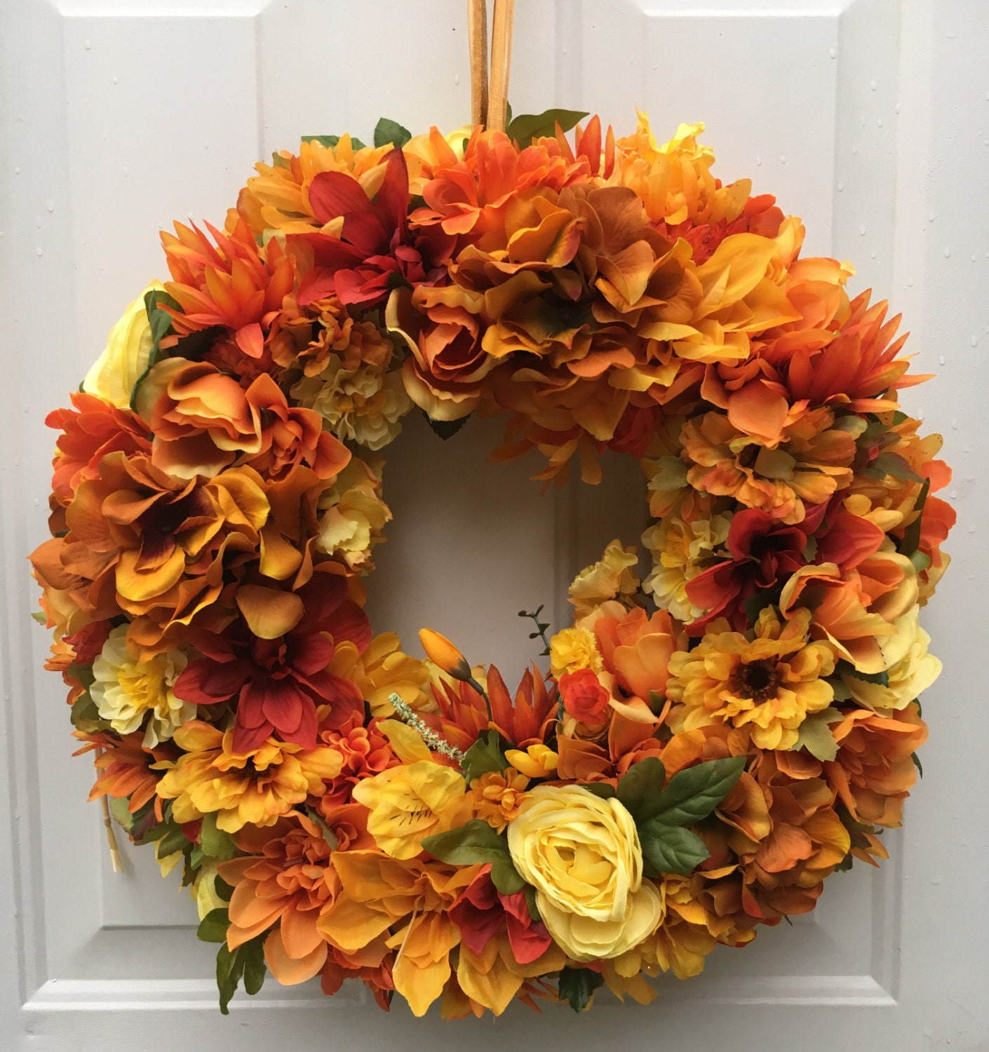 Fall front door wreath autumn wreath harvest wreath Fall autumn door wreaths