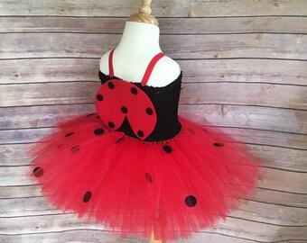 Ladybug dress - lady bug tutu - ladybug costume - ladybird dress - girls dress up - gifts for girls - birthday party dress - tutu dress