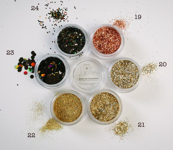 Mix your own cosmetic glitter