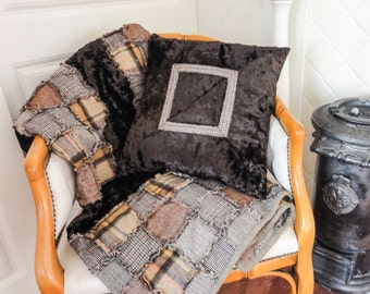 PATCHWORK PLAID with vintage look.