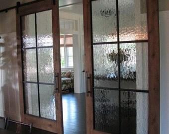 Rain Glass silding doors
