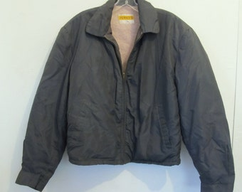 30% Off SaLE@@A Men's 1940's Shurpa Lined,Mid Century NYLON BOMBER Jacket By PENNEY'S.L