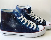 galaxy shoes. hand painted galaxy shoes. Unique, funky alternative shoes. made to order