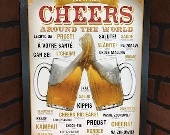 Cheers Tin Beer Sign