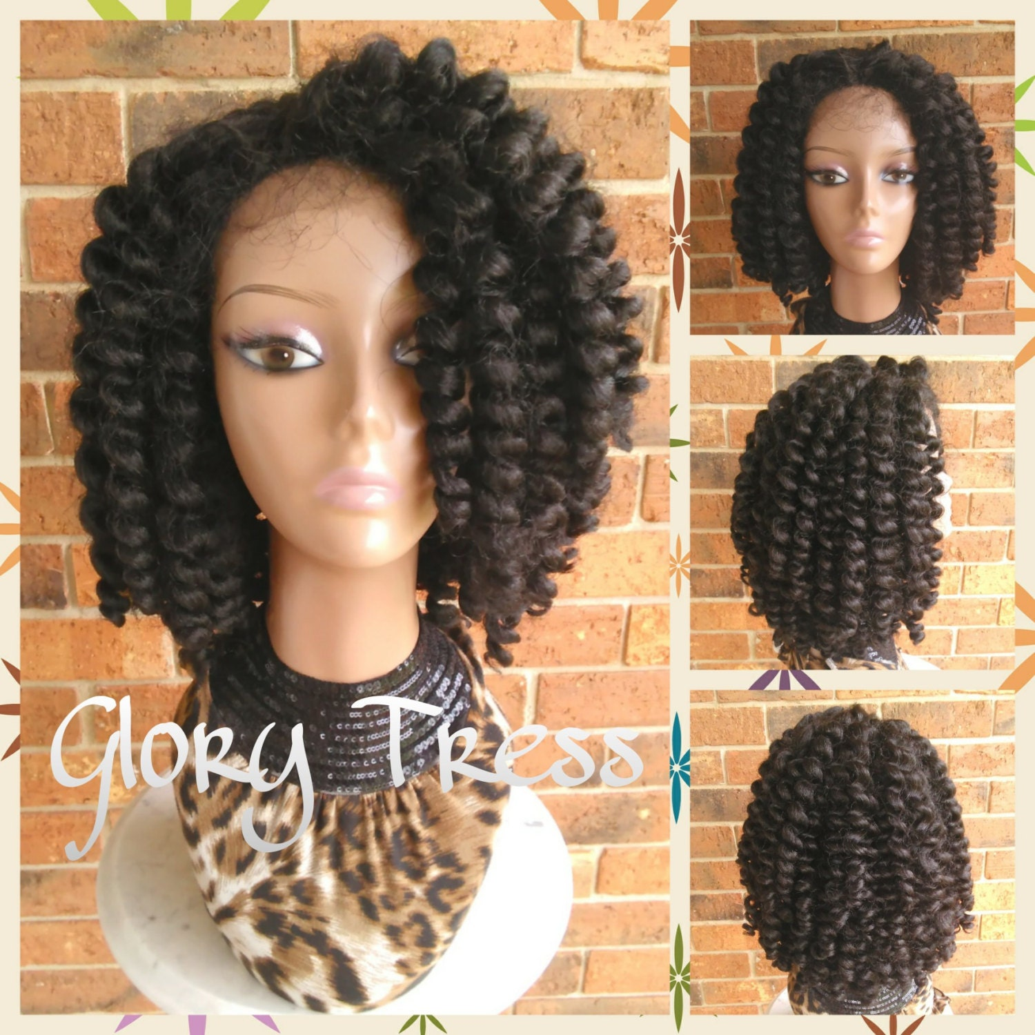 Crochet Braids Knots : ON SALE // Bantu Knot Out Crochet Braided Lace Front by GloryTress