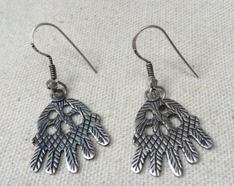 Siwa motif silver earrings - Khamsa - Cairo -  Egypt