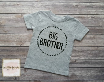 Big Brother Shirt/Little Brother Shirt or Onesie Personalized Shirt Sibling Brother Shirt Pregnancy Announcement Baby Announcement Shirt