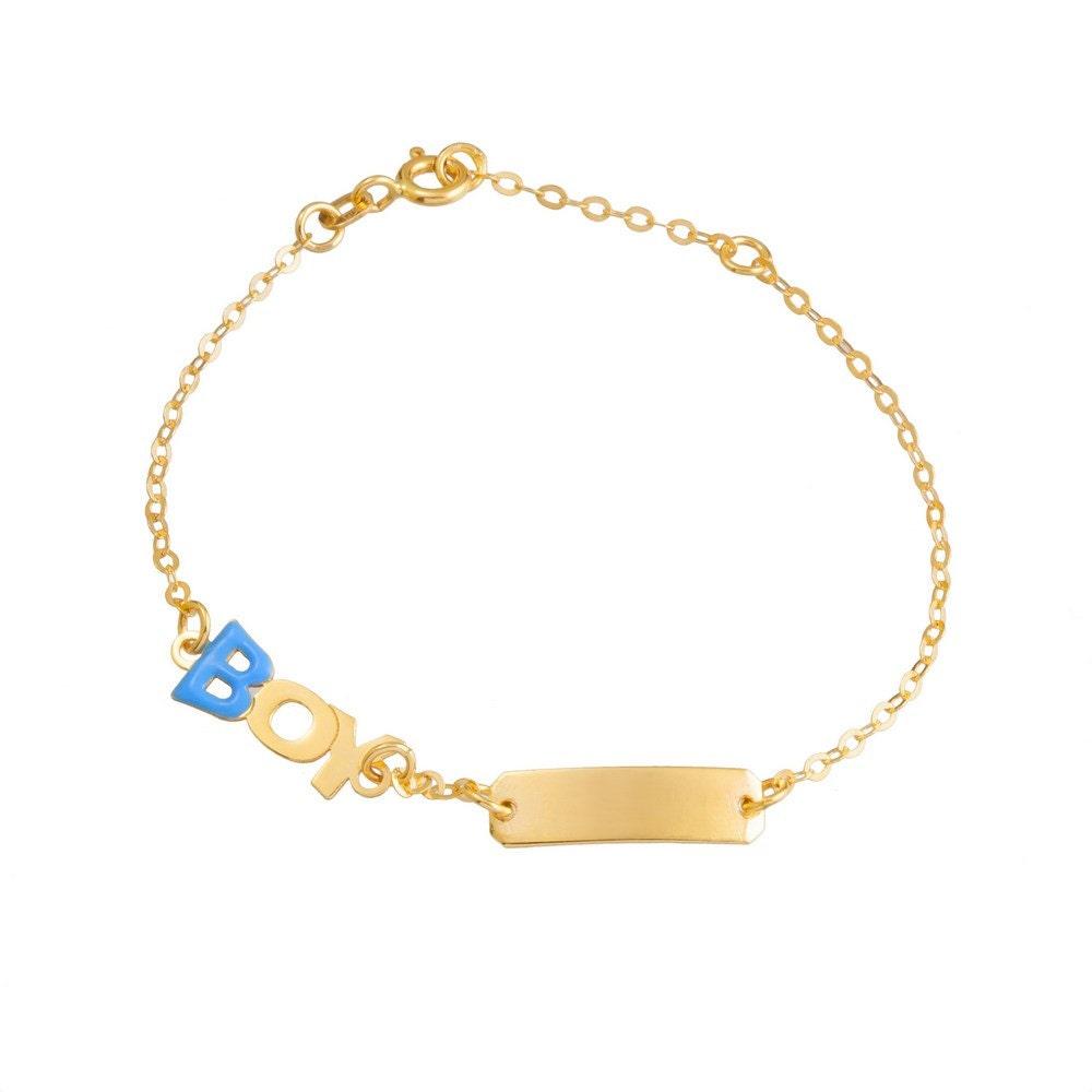 newborn baby boy 9k yellow gold bracelet