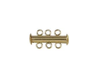 Round Bar Clasp Three Strand - Gold Filled (#6553)