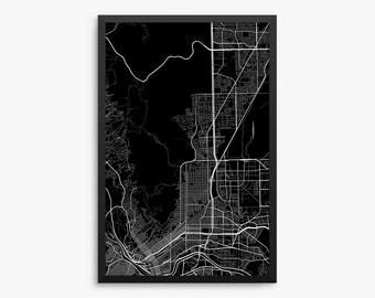 El Paso City Street Map, El Paso Texas USA, Modern Art Print, Office Decor, Home Decor, El Paso Gift, El Paso Decor, Texas Decor, Gift Idea
