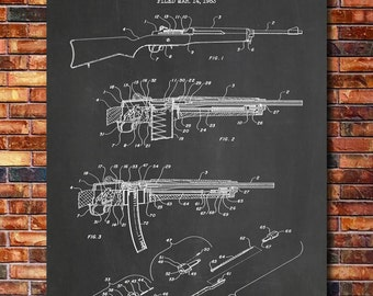 AC-556 Rifle Patent Print Art 1985