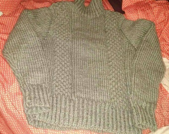 Sweater warm gray collar amount for pre-teen age 13