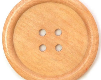 "Button, light coffee, Jumbo 50mm (2"")"