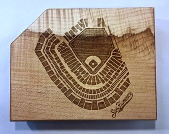 Stadium Design Cutting Board - Made from reclaimed maple wood!