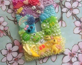 Cute Light switch cover  decoden bling rainbow