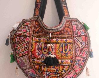 banjara vintage bag bohemian tribal hill tribe ethnic indian bag