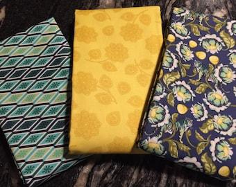 Tuka Pink Eden 3 coordinating fabrics - FQ, 1/2 yd or 1 yard of each