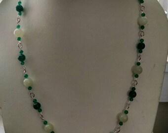 Malachite and Japanese jade 4 piece set