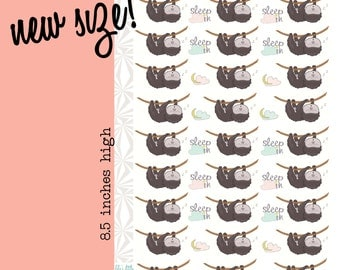 The Sleepy Sloth Planner Stickers | Sloth Stickers (#081)