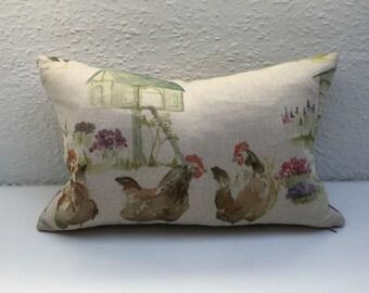 "Handmade, Hen Cushion Cover  - 15""x 10"""