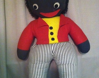 Rare 1950's Golliwog Doll, totally Original From Pedigree of N.Ireland 30 inches